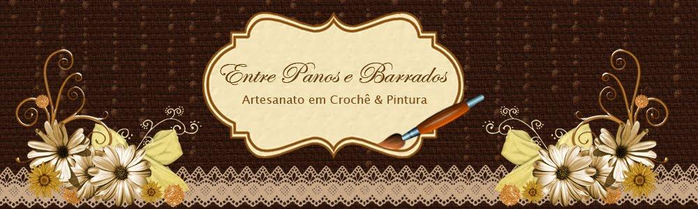 Entre Panos e Barrados Artesanato em Crochê e Pintura
