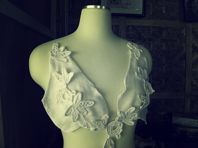 White irish lace motifs you can make