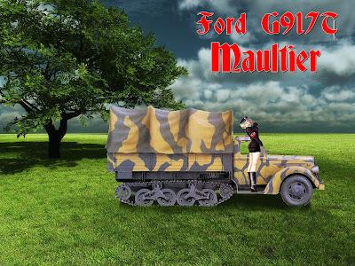 Panzerserra Bunker  Ford G917 Maultier   German haltrack 3 ton