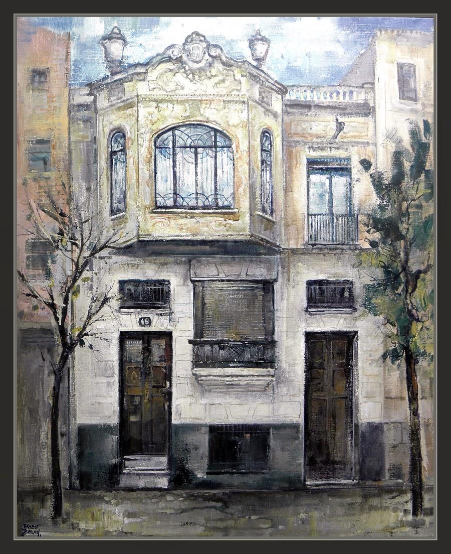 Ernest descals artista pintor modernismo pintura igualada - Casas modernistas barcelona ...