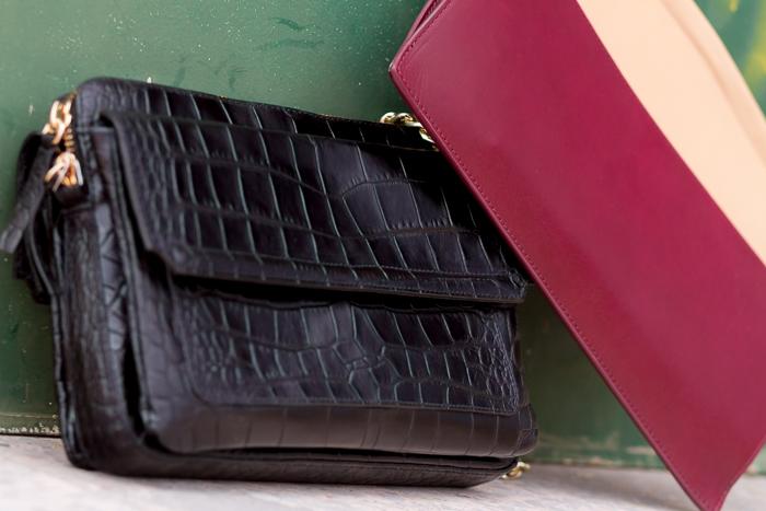 Gangas de rebajas en Zara bolso de cocodrilo y cartera de mano bicolor de piel Valencia blog moda Accesorios