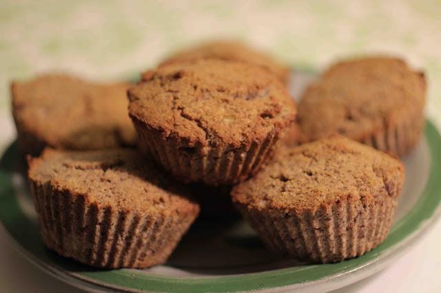 Muffins banane-noisette