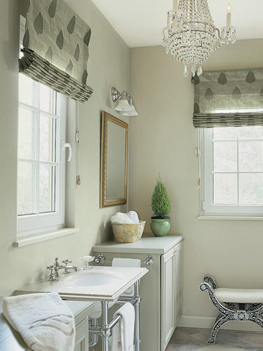Beautiful Soft Colors Grace This Pretty Pool House Bathroom/changing Room