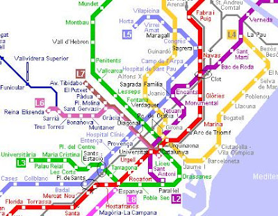 Barcelona Metro Map images 2