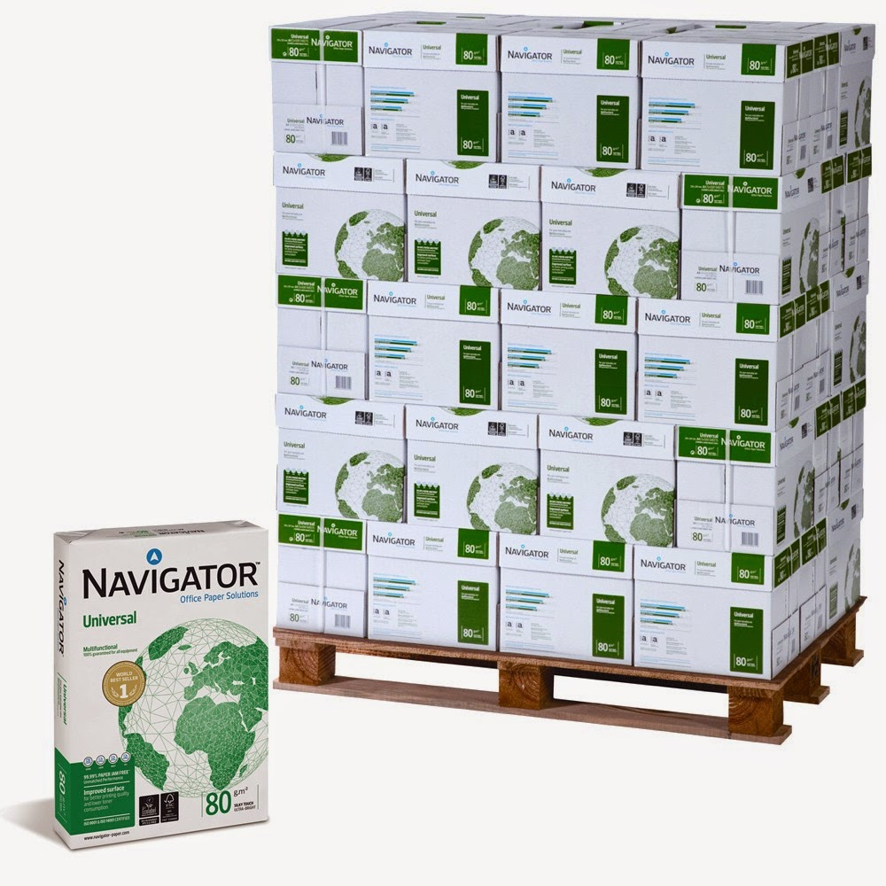 Palet papel navigator 80g A4 blanco