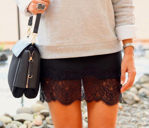 DIY Cómo hacer falda lencera o falda de encaje. Blog de costura y diy.