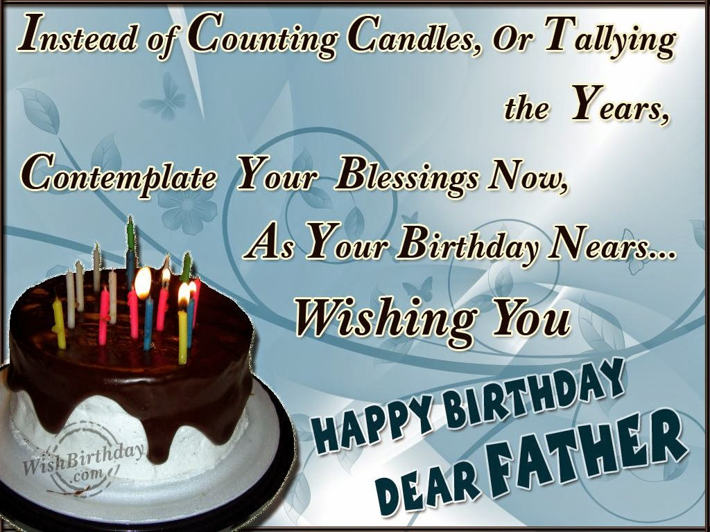 Birthday Wishes For Father Health ~ Birthday wishes father �