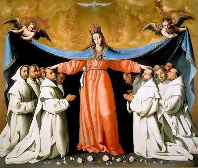 8 au 16 juillet Neuvaine à Notre Dame du Mont Carmel Francisco-de-zurbaran-vierge%20marie%20grand%20manteau%20aux%20chartreux-vers%201630-1650