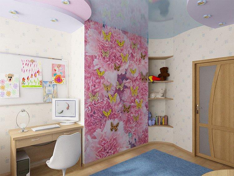 Дизайны маленьких комнат с фотообоями