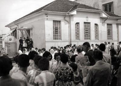 Evento na Casa Paroquial em 1964.