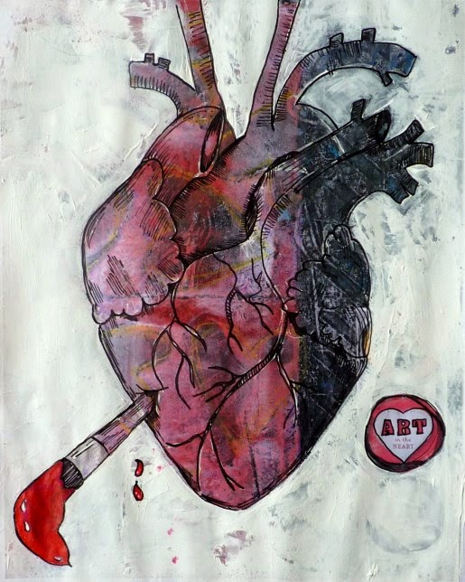 "Whoopidooings: Carmen Wing - Stay at Home CJ. Mixed Media ""Art in my Heart"""