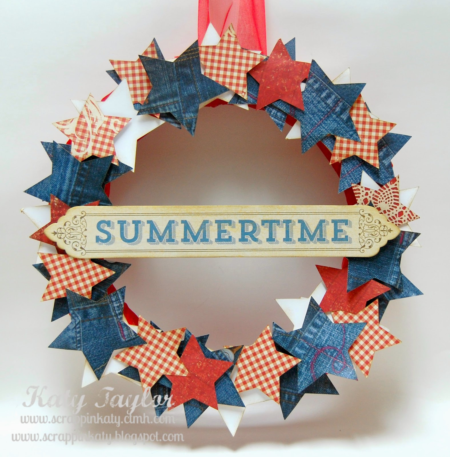 Summertime Wreath on Diane's Vintage Zest!