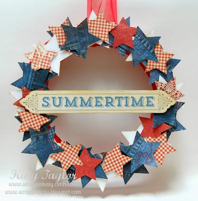 Summertime Wreath on Diane's Vintage Zest!