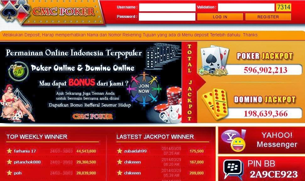CMCPoker.com Agen Judi Poker Online, Agen Judi Domino Online Indonesia Terpercaya