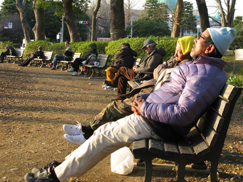 Homeless, Ueno Park, Tokyo, Japan