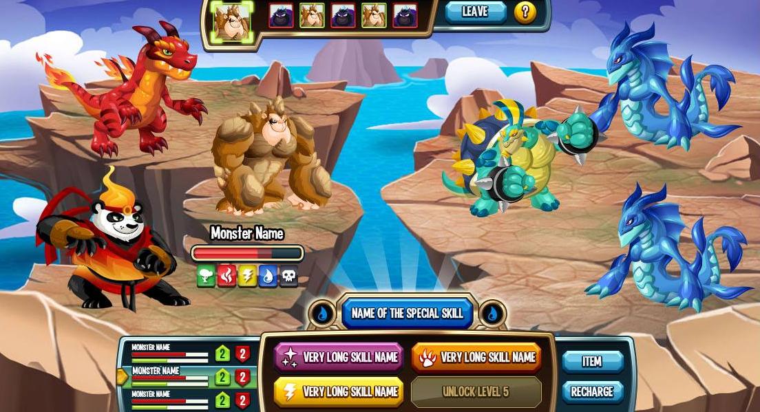 Image Gallery monster legends app