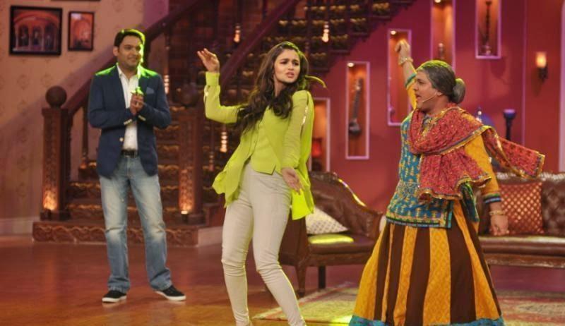 "Alia Bhatt :Alia Bhatt at ""Comedy Nights With kapil"" promoting her Film 'Highway' With Randeep Hooda"