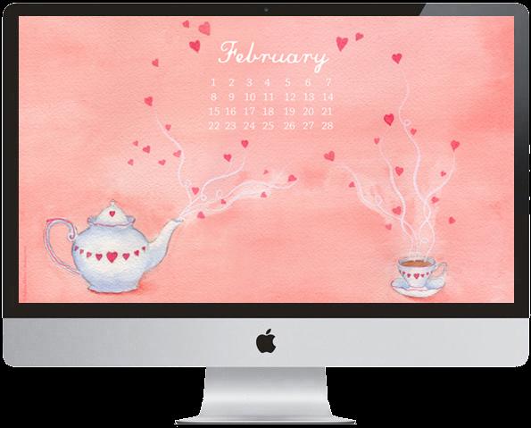 February 2015 Downloadable desktop Calendar © Ashley P. Halsey