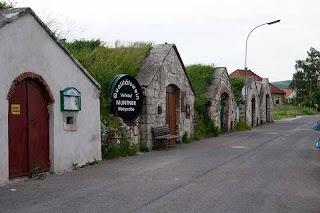 wine-cellar-lined lane - Kellergasse