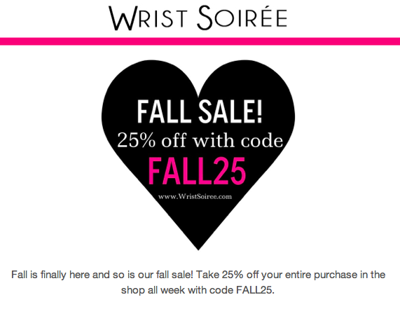 Wrist Soiree Fall Sale