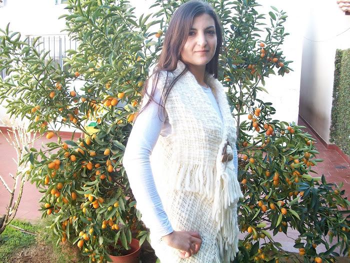 chaleco pura lana en telar