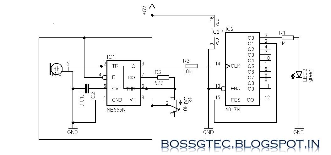 circuit diagram 4017 circuit diagram templateclap activated switch using [ic 555 and ic 4017] arduinotamilcircuit diagram 4017 15
