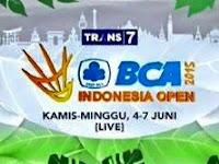 Jadwal Live Indonesia Open 2015 di Trans 7 Hari Ini (4/6/2015)