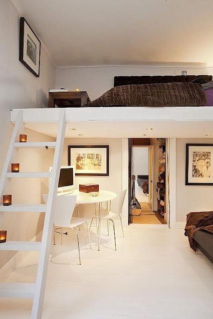 Quiero dormir en un altillo tu tambi n cositas decorativas estudio de decoraci n de interiores - Escalera plegable para altillo ...