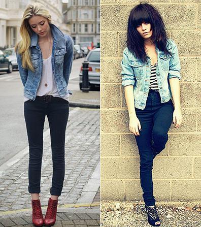 Chaquetas de jean para mujer de moda