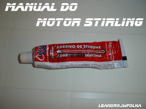 "Manual do motor Stirling, cola de silicone de alta temperatura ""300 C°"""