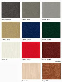 Paleta barw - kolorów Schüco AutomotiveFinish