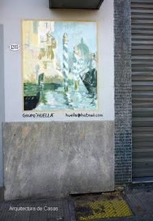 Mural sobre fachada de una casa en La Boca, Ciudad de Buenos Aires
