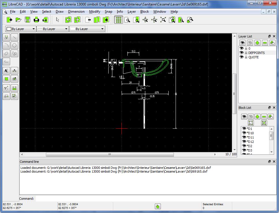 برنامج الرسم الهندسي Librecad Bimarabia
