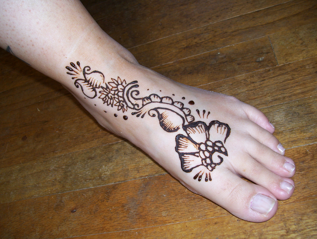 Mehndi Feet Pictures : Henna indian mehndi foot design disigns
