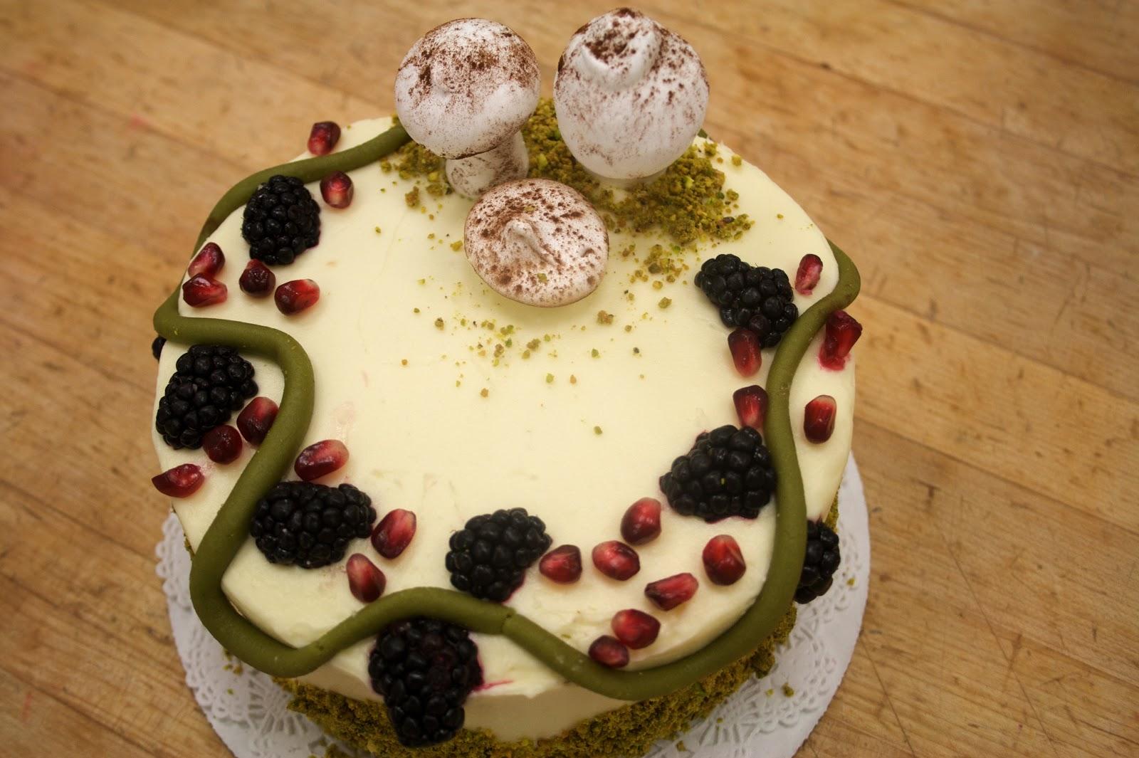 engrained: mossy mushroom cake.