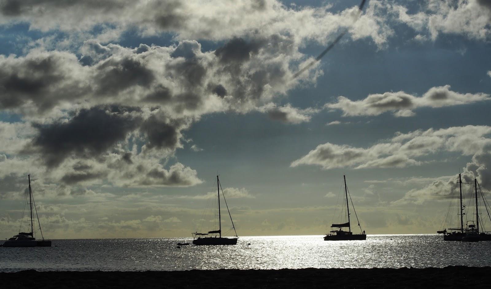 Pinney's Beach, Nevis #NevisSailing #InneysBeach #beach #Nevis #boats #sailin ©2015 Nancy Lundebjergg
