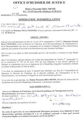 Jean ndouanis l 39 ill galit du pdg qui confirme l - Peut on porter plainte contre un huissier ...