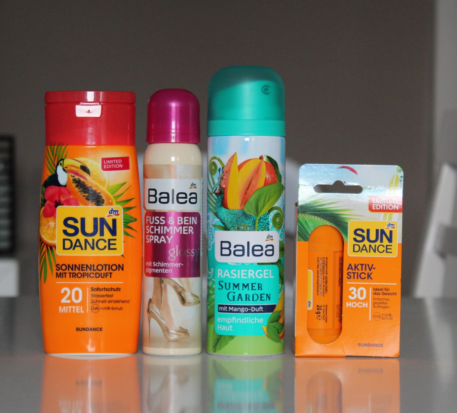 DM #7 - Balea Sun Dance losion i stik, sjajni sprej za noge i gel za brijanje