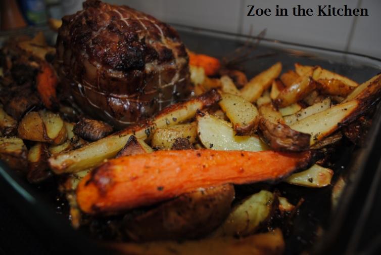 Zoe in the kitchen roti d agneau et l gumes au za atar lamb roast and veggetables with za atar - Roti d agneau cuisson ...