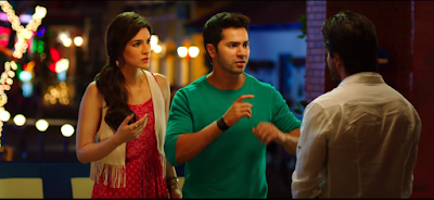 Still From Dilwale : Red Hot Kriti Sanon with Varun and ShahRukh