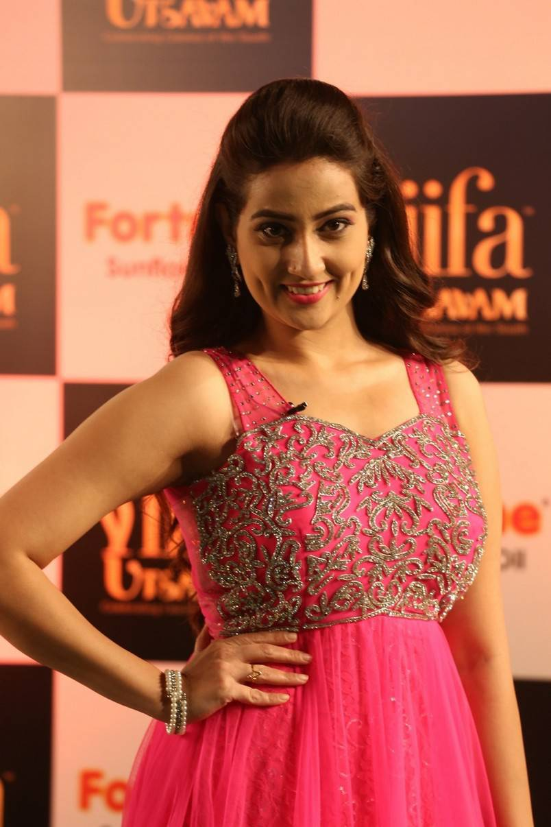 Anchor Manjusha Stills at IIFA Utsavam 2016 In Pink Dress