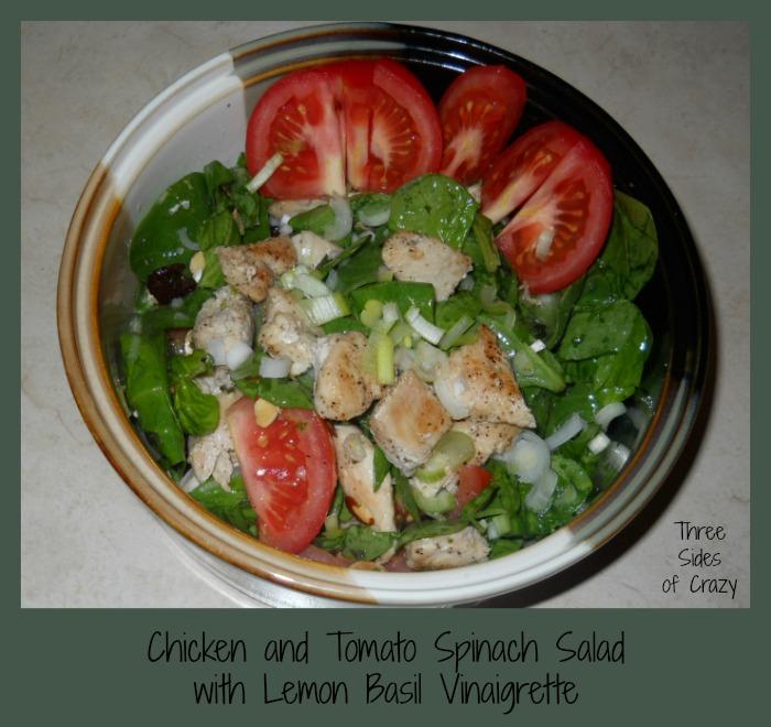 ... of Crazy: Chicken & Tomato Spinach Salad w/ Lemon Basil Vinaigrette