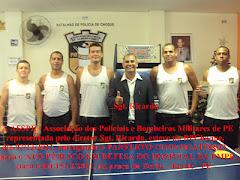 O Sgt. Ricardo Dir. Adm. da ASSPE no BPChoque convocando-os para o ATO PÚBLICO EM DEFESA DO CMH