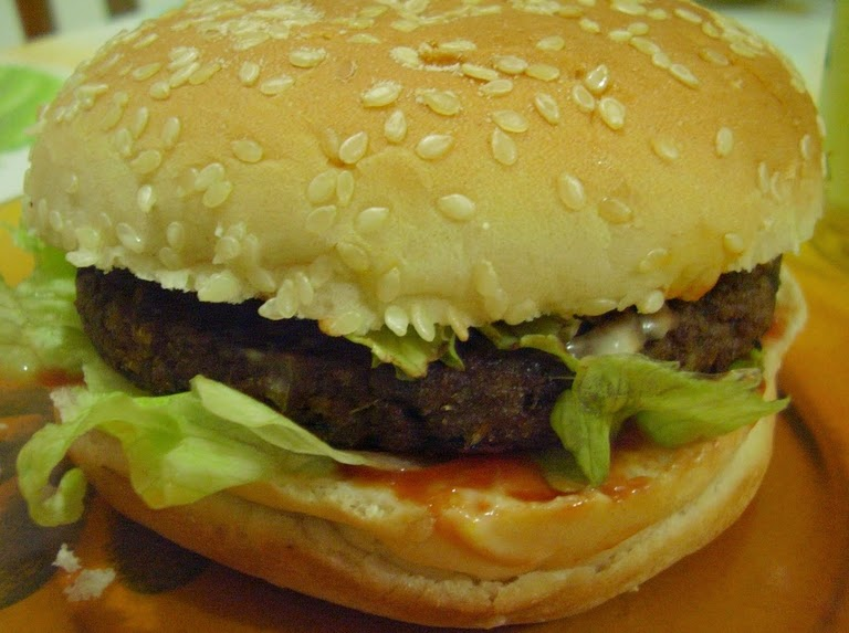 Hambúrguer de PTS (vegana)