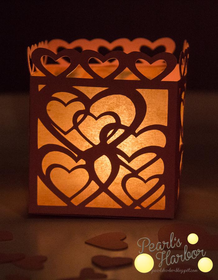Datei zum Plotten eines Windlichtes mit Herzen zum Muttertag als Freebie, freie Datei kostenlose