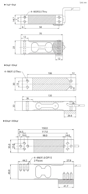 Loadcell BCL dimension