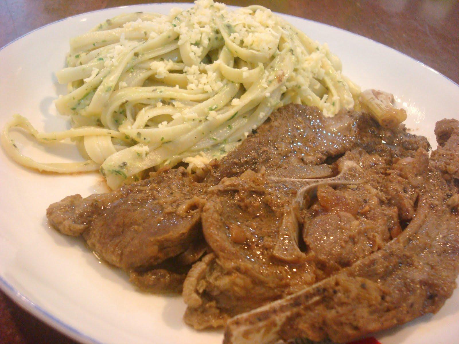World Cuisine: Braised Lamb and Linguine Pesto