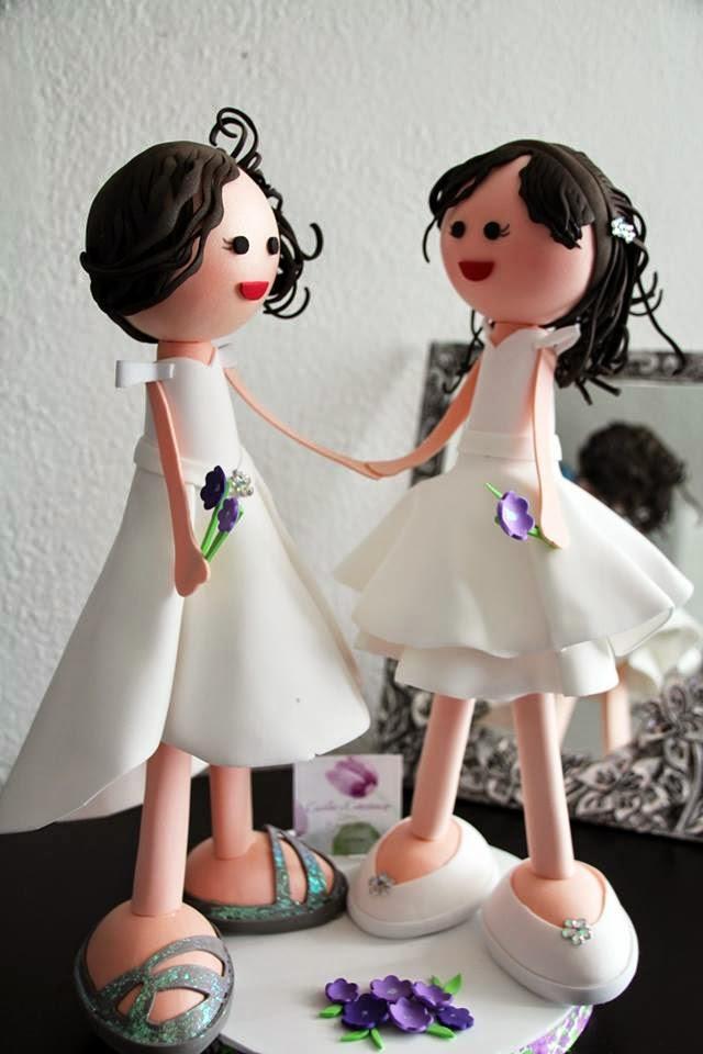 mesa de dulces para boda con fofuchas novias okmira