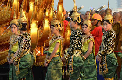 Apsaras at Funeral procession of King Norodom Sihanouk, Phnom Penh, Cambodia