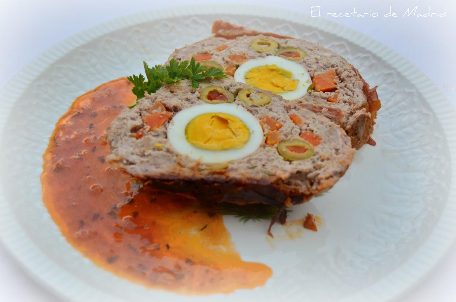 El recetario de mari rollo de carne relleno paso a paso - Salsa para relleno de carne ...